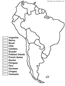 study map of south america south america coloring map of countries maybe use for jr