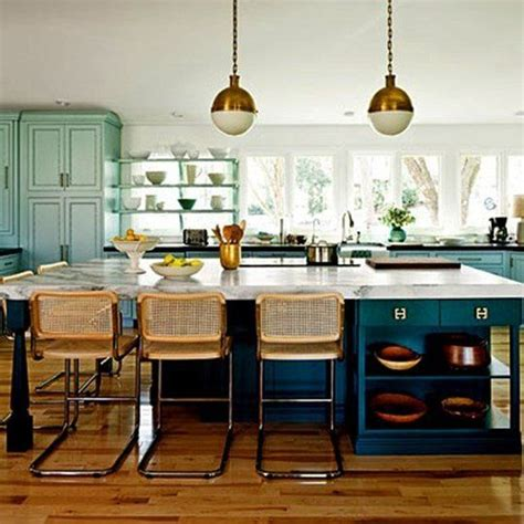 blue and green kitchen blue green kitchens 2017 grasscloth wallpaper