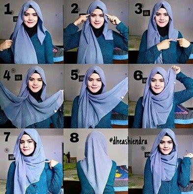 tutorial segi empat velvet video tutorial hijab modern untuk acara santai dan casual