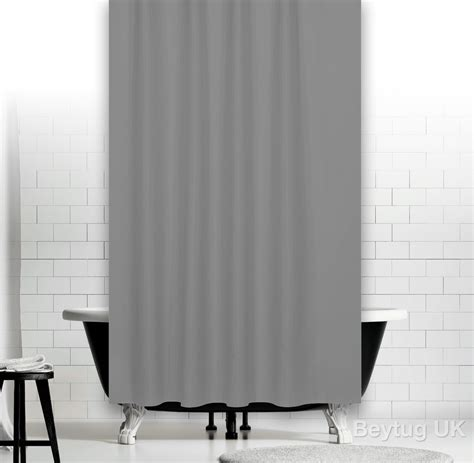 curtain widths uk plain grey fabric shower curtain in 3 sizes extra long