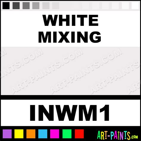 white mixing colors ink paints inwm1 white mixing paint white mixing color intenze