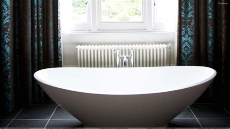 Design Bathtub by White Bowl Design Bathtub Closeup Wallpaper