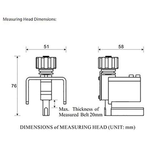 Alat Ukur Ketegangan belt tension tester btt 2880 ukur ketegangan