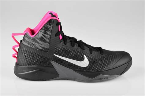 pink mens basketball shoes nike zoom hyperfuse 2013 mens basketball shoes new black
