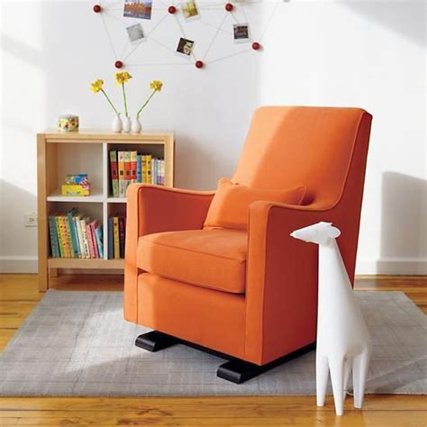 Gliders And Ottomans For Nursery Nursery Gliders Orange Upholstered Monte Luca Glider And Ottoman In Rockers Gliders The