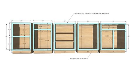 kitchen cabinet blueprints ana white build a face frame base kitchen cabinet