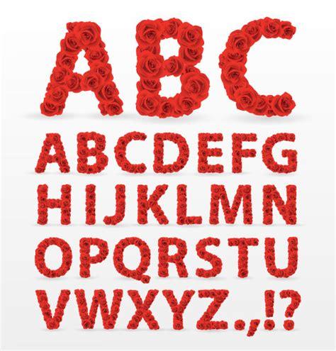 font design vector free download flower font design 01 vector material free vectors