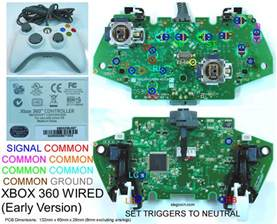 gaming gadgets and mods xbox 360 and original xbox controller pcb diagrams for mods or
