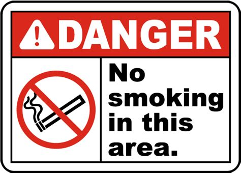 no smoking sign leed danger no smoking in this area sign j2575 by safetysign com