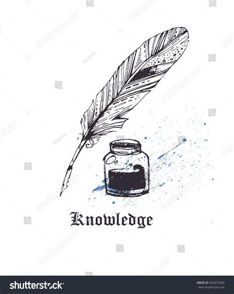 tattoo pen vector vintage pen writing goose feather pen stock vector