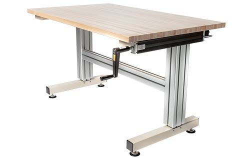 adjustable height table cantilever crank adjustable height work table frame