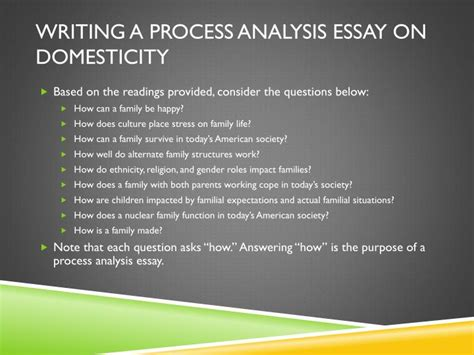 How To Write Process Analysis Essay by Ppt Writing A Process Analysis Essay Powerpoint Presentation Id 1835595