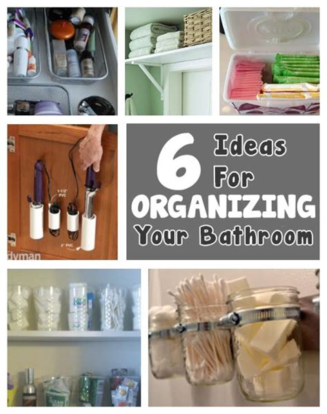 organizing tips for bathroom 6 ideas to organize the bathroom 171 171 can be dun can be dun