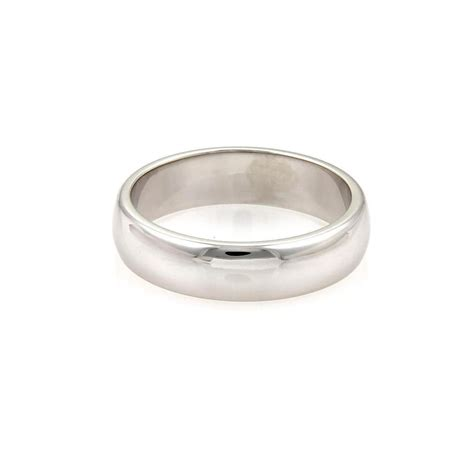 tiffany co platinum 6mm wide dome wedding band size 11