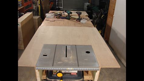 homemade table  extension rip fence question