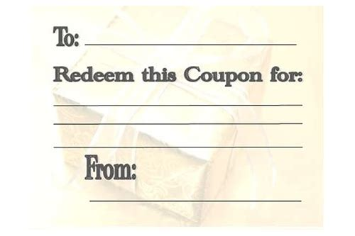 make your own coupon book template