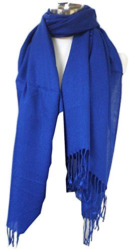 Pasmina Satin Silk Silky Blue i silk scarves and pashminas summer and winter