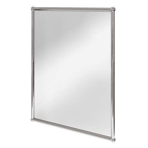 chrome bathroom mirror burlington rectangular mirror with chrome frame a11 chr