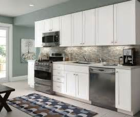 contemporary kitchen white shaker style cabinets by