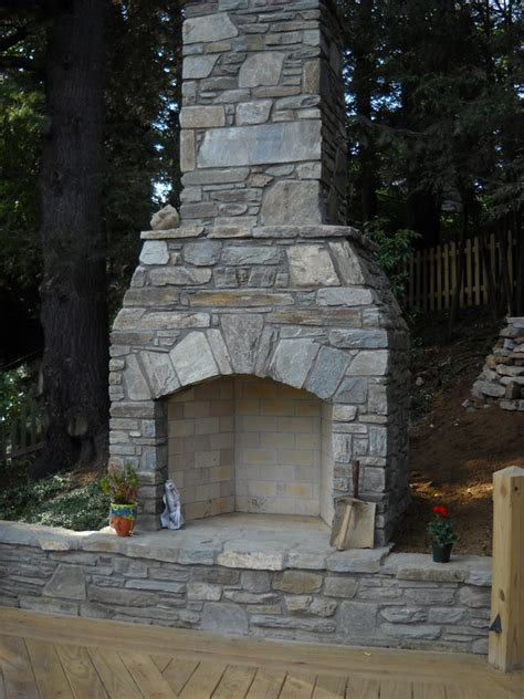 building outdoor fireplace stonetutorials living stone masonry