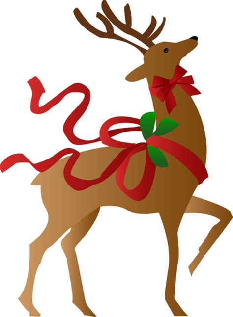 a christmas reindeer clip art christmas clipart and