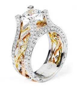 tri color engagement rings 18k tri color twist band engagement ring 38755