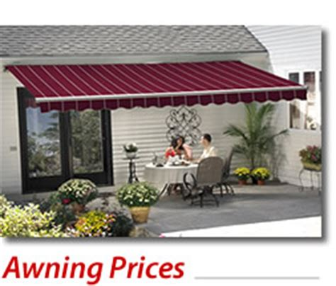 retractable awning cost awning patio awning prices