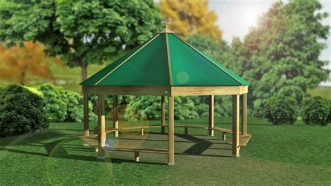 outdoor classrooms  canvas roof  hideout house
