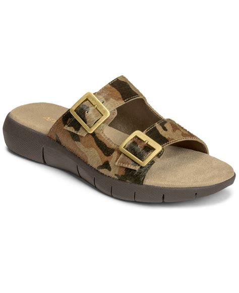 aerosol sandals aerosoles wip code flat sandals in brown lyst