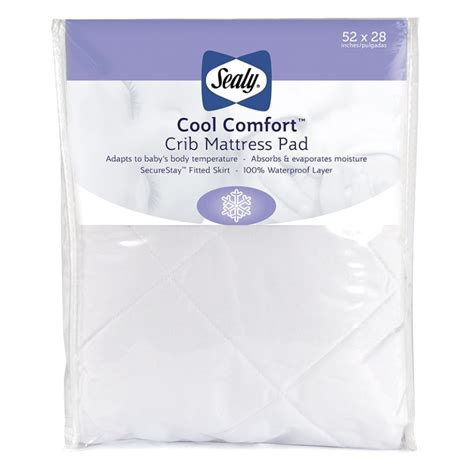 fitted crib mattress pad sealy coolsense 2 stage crib mattress sealy baby