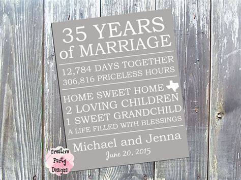 35th Wedding Anniversary Vacation Ideas by 35th Anniversary Gift For My Husband Gift Ftempo