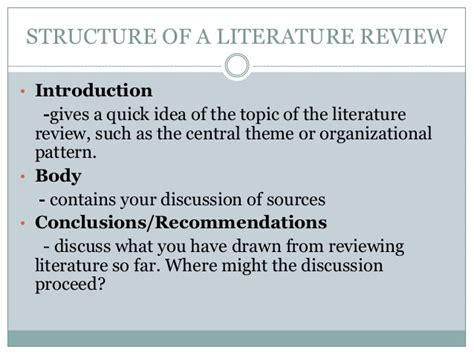 Lit Essay Structure by Literature Review Introduction Structure