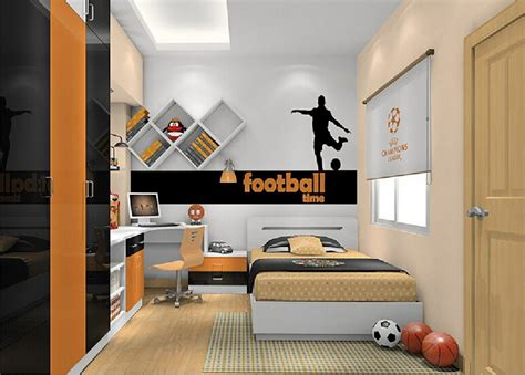 cool boys bedroom interior decorating ideas with football