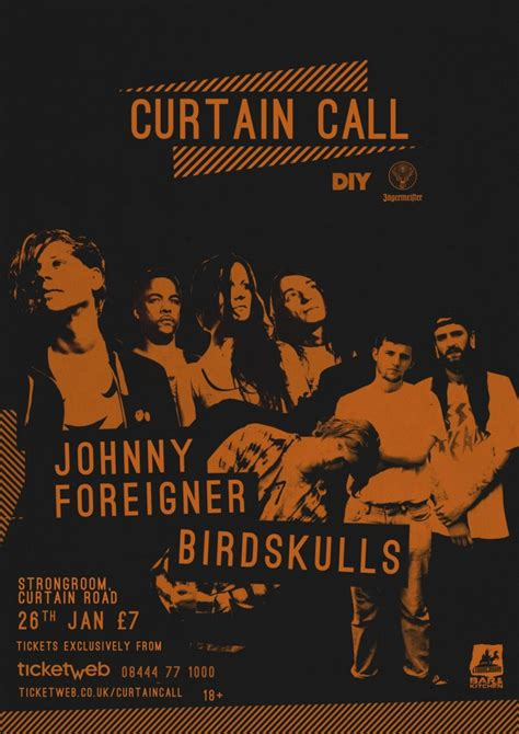 curtain call tickets johnny foreigner announced for curtain call 2016