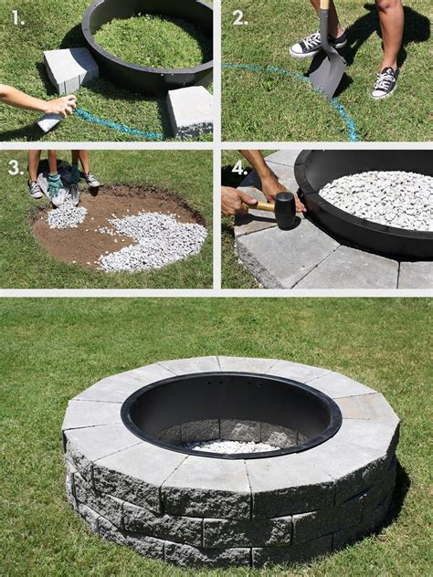 Step By Step Build Your Own Pit The Garden Hose Make Your Own Pit In 4 Easy Steps A Beautiful Mess