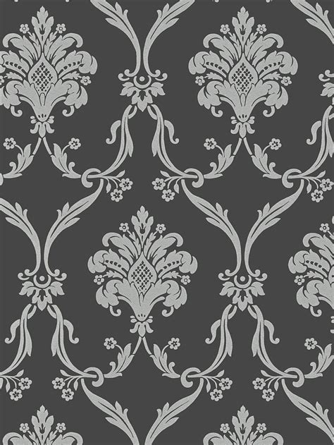 black grey wallpaper designs silver on dark gray victorian damask wallpaper random