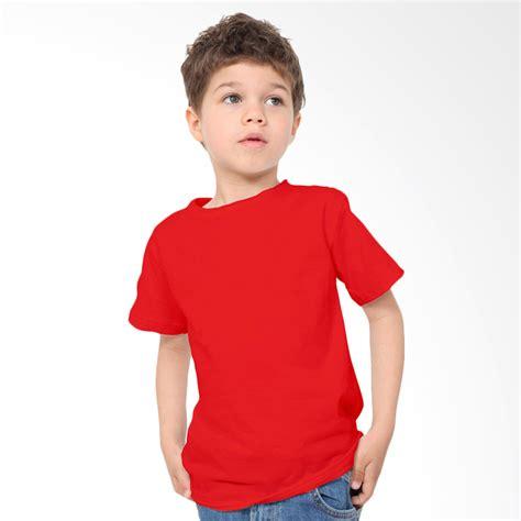 jual kaosyes kaos polos t shirt anak merah