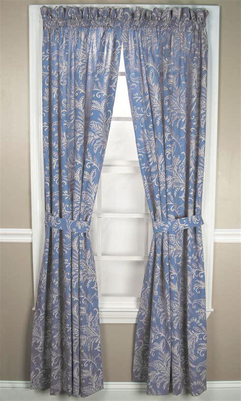 pocket rod curtains floating leavestie up valance