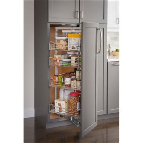 Chrome Pantry Shelves by Pantry Pullout Racks