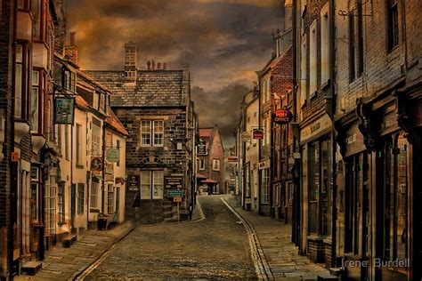 whitby town centre  irene burdell redbubble