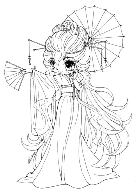 cute chibi coloring pages free coloring pages for kids 3