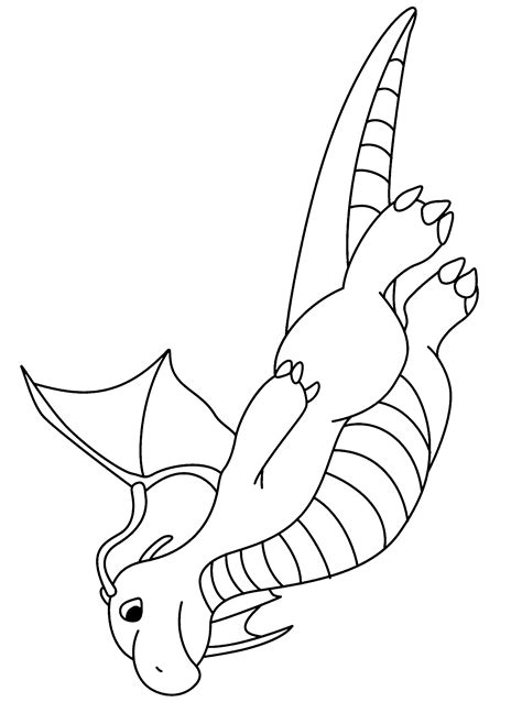 pokemon coloring pages dragonite dragonite coloring pages
