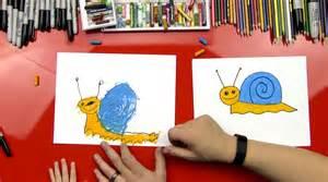 draw snail young artists art kids hub