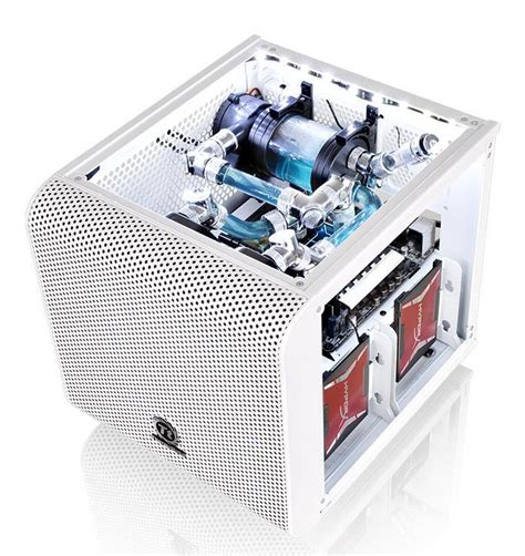 Thermaltake V1 Snow White thermaltake unveils the v1 snow mini itx chassis techpowerup forums