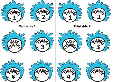 thing 1 template free coloring pages of thing one and thing 2