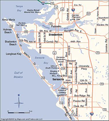 map of ta florida and surrounding area map of sarasota florida