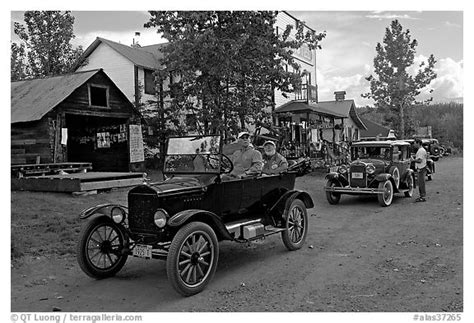 old cars black and white black and white picture photo classic cars driven on main