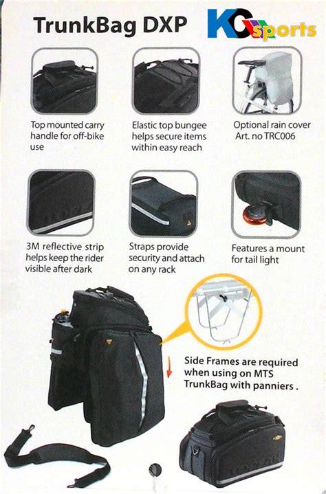 Tas Rak Sepeda jual paket rak tas sepeda topeak tourist dx disc