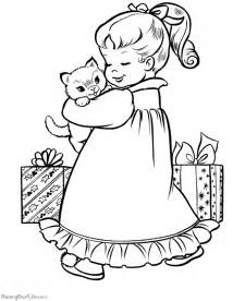 Free printable christmas coloring pages a christmas kitten