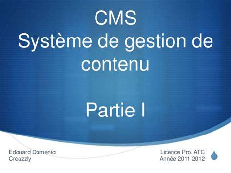 systme de contenu pligg cours licence pro syst 232 me de gestion de contenu partie 1